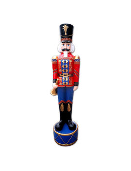 6 Ft Red And Blue Nutcracker by At Home