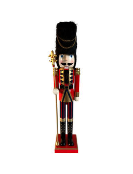 Soldier Nutcracker With Fur Hat 36 In. by At Home
