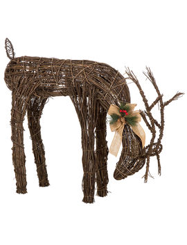 """32"""" Grapevine Reindeer by At Home"""
