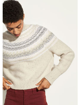 Cropped Fair Isle Turtleneck by Vince