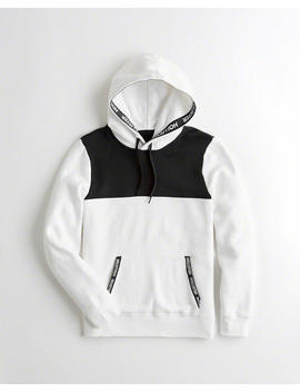 Colorblock Logo Tape Hoodie by Hollister