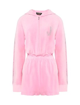 Swarovski Embellished Velour Romper by Juicy Couture