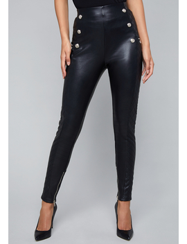 Faux Leather Moto Leggings by Bebe