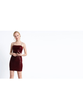 Wine 90s Strappy Mini Dress by Nobody's Child