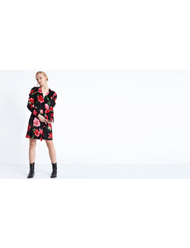 Red Steffi Floral Deep Plunge Wrap Dress by Nobody's Child