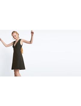 Gold Marina Gold Lurex Stripe Mini Dress by Nobody's Child