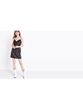 Cowl Neck Black Strappy Dress by Nobody's Child