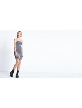 Grey 90s Strappy Mini Dress by Nobody's Child