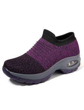 Mesh Cushioned Running Casual Platform Shoes by Newchic