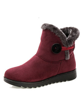 Buckle Comfortable Keep Warm Soft Ankle Snow Boots For Women by Newchic