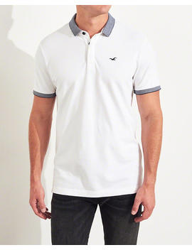 Stretch Shrunken Collar Polo by Hollister