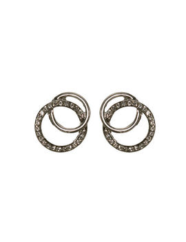 Intertwined Crystal &Amp; Metal Earring by Ricki's