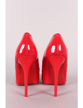 Patent Pointy Toe Sitletto Pump by Urbanog