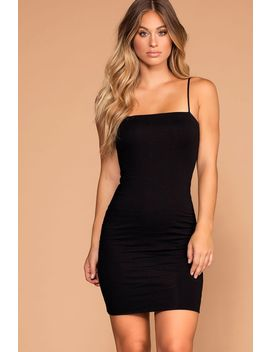 Alisa Black Bodycon Dress by Priceless