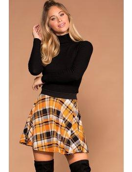 Britney Plaid Skater Skirt   Honey by Priceless