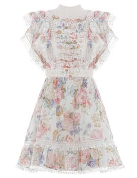 Bowie Frill Mini Dress by Zimmermann