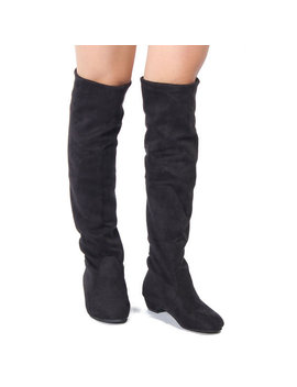 Women Casual Flat Over The Knee Stretchy Boots by Newchic