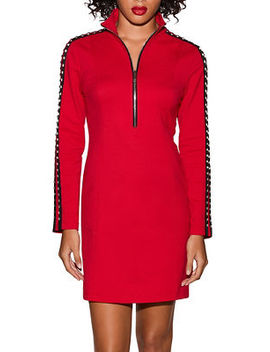 Studded Sleeve Sweatshirt Dress by Boston Proper