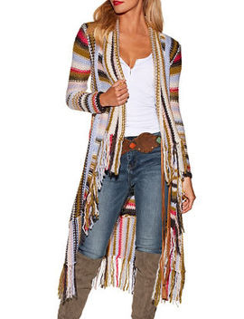 Multicolor Fringe Duster by Boston Proper