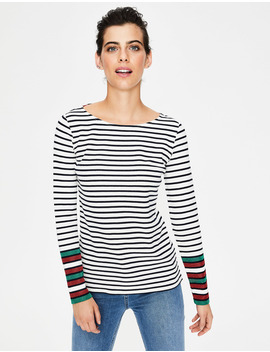 Long Sleeve Sparkle Breton by Boden