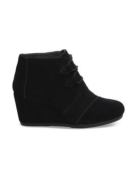 Black Suede Women's Kala Booties by Toms