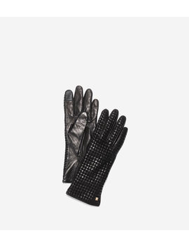 Braided Back Gloves by Cole Haan