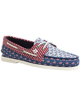 Men's Sperry X Vineyard Vines Americana Authentic Original Patchwork Boat Shoe by Sperry