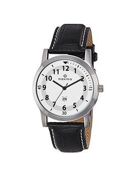 Maxima Analog White Dial Men's Watch O 44670 Lmgi by Maxima