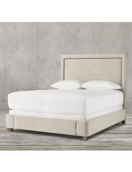 Wallace Fabric Bed With Nailheads by Restoration Hardware
