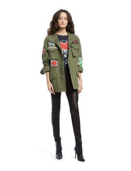 Keith Haring X Ao Russo Parka by Alice And Olivia