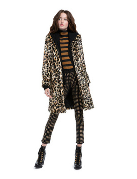 Kylie Faux Fur Hoodie Coat by Alice And Olivia