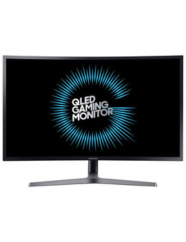 "Samsung Chg70 27"" Wqhd 144 Hz 1ms Curved Va Led Gaming Monitor (Lc27 Hg70 Qqnxza)   Dark Blue Black by Best Buy"