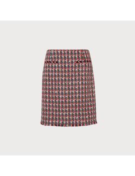 Danna Red Tweed Skirt by L.K.Bennett