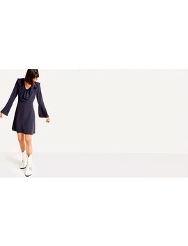 Navy Frilly Button Front Flippy Dress by Nobody's Child