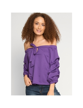 Roma Ruched Sleeve Top by Wet Seal