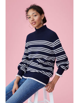 Striped Turtleneck Pullover by Rebecca Taylor