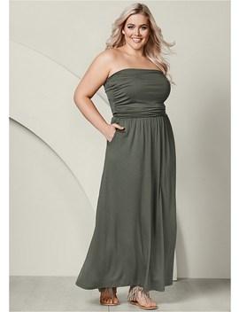 Plus Size Pocket Detail Maxi Dress by Venus