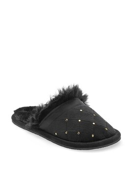 Quilted Faux Fur Slipper by Venus