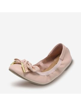 Women's Casey Bow Scrunch Flat by Learn About The Branddexflex Comfort