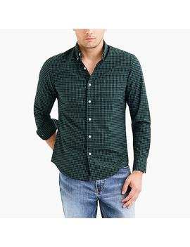 Classic Flex Heather Washed Shirt In Gingham by J.Crew