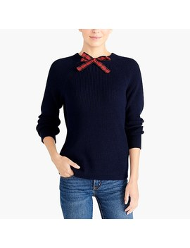 Tartan Bow Neck Sweater by J.Crew