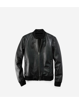 Leather Varsity Jacket by Cole Haan
