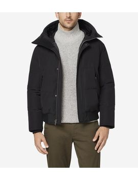 Oxford Down Hooded Bomber Jacket by Cole Haan