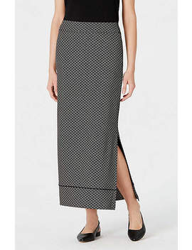 Wearever Printed Piped Maxi Skirt by J.Jill