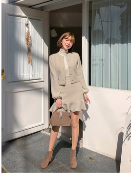What To Love Cardigan+Skirt Set by Chuu