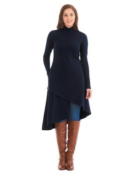 Asymmetric Hem Cotton Knit A Line Dress by Eshakti