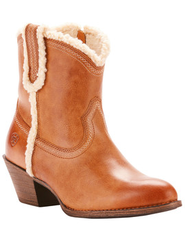 Ariat Women's Brown Darlin Fleece Boots   Medium Toe by Ariat