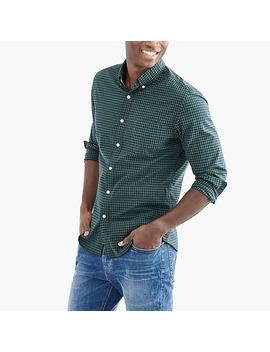 Slim Flex Heather Washed Shirt In Gingham by J.Crew
