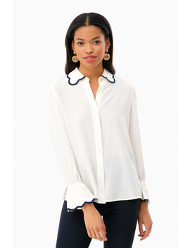 Scallop Edge Shirt by Tory Burch