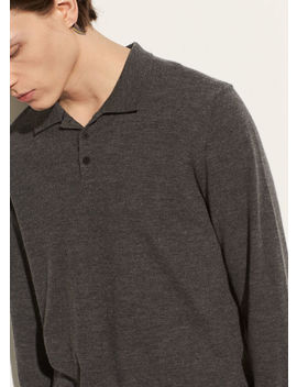 Long Sleeve Wool Polo by Vince